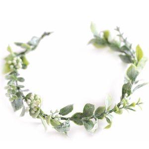 Floral greenery crown
